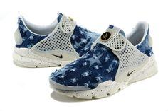 1f4d27fe41f Girl WMNS Nike Sock Dart lightning Jean Denim Hyper Blue White Sock Dart