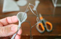 Felt Mouse Tutorial - Tuck the Thread Tail Down Into Arm