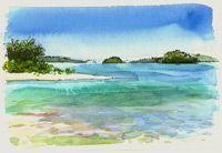 Aitutaki Lagoon from Motu Maina