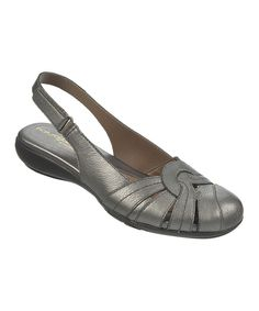 Look at this Pewter Civil Leather Pump on #zulily today!