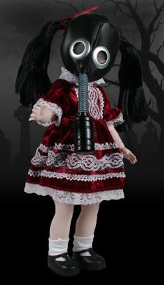 LDD Toxic Molly After all the mass cremation Bringing about man's damnation, Toxic Molly survived the devastation And is reborn again through radiation. Horror Merch, Scary Dolls, Horror Decor, Living Dead Dolls, Haunted Dolls, Gothic Dolls, Halloween Doll, Best Horrors, Designer Toys