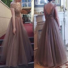 Women long dress Backless Sleeveless Chiffon A line style big swing elegant vintage lad Fluffy Wedding Bridesmaid party Dress Elegant Dresses For Women, Sexy Dresses, Cute Dresses, Casual Dresses, Summer Dresses, Flowy Dresses, Halter Dresses, 1950s Dresses, Simple Dresses