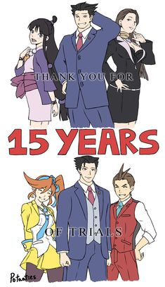 15 years of trials. 15 years of objections. 15 years of TRUTH. THANK YOU, ACE AT... - #Ace #objections #Trials #truth #years Phoenix Wright, Ace Attorney, Apollo Justice, Fanart, Precious Children, Indie Games, 15 Years, Trials, Video Games