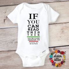 Funny Baby Onesie® a Cute Trendy Hipster Boy or Girl Bodysuit Outfit perfect Baby Shower or Birthday Gift, Funny Boho Eye Exam Baby Onesies - PRessure Applied - Babykleidung Baby Outfits, Body Suit Outfits, Cute Baby Onesies, Baby Shirts, Girl Shirts, Shower Bebe, Baby Shower, Funny Baby Clothes, Funny Babies