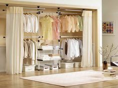 diy closet curtains - Google Search