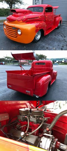 custom beast 1948 Ford Pickup vintage for sale Vintage Trucks For Sale, Custom Trucks For Sale, Cars For Sale, 1948 Ford Pickup, 1948 Ford Truck, Aluminum Radiator, Aluminum Wheels, Rear Ended, Automatic Transmission