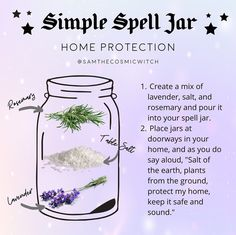 "Nellie on Instagram: ""I love this... and spell jars. I would also add some protection crystals, such as black tourmaline, Smokey quartz, or amethyst for an extra…"""