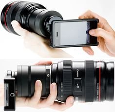 This is awesome. SLR Mount for your iPhone.