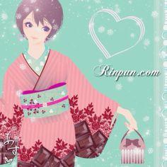 kimono girl snowy day.