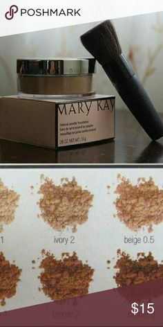 BNWT mineral powder foundation Color ivory 2 Mary Kay Makeup Foundation