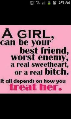 Word. My attitude is based on how you treat me soo you decide!