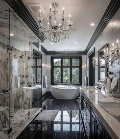 20 fantastic traditional bathroom designs you'll love — SP - Home Design Dream Bathrooms, Beautiful Bathrooms, Modern Bathrooms, Luxury Bathrooms, Master Bathrooms, Small Bathroom, Bathroom Marble, Mansion Bathrooms, Bathroom Cabinets