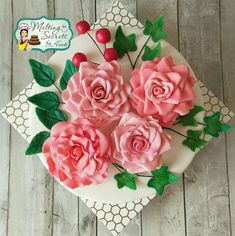 #worldcancerday Sugar flowers and Cakes in Bloom Collaboration  - cake by Melting Secrets by Kirti