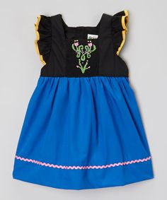 Look at this Smock Candy Black & Blue Ice Princess Dress - Infant, Toddler & Girls on #zulily today!