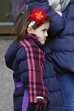 If Looks Could Kill: A Sour Suri Cruise Out And About With Mom Katie Holmes (Photos)