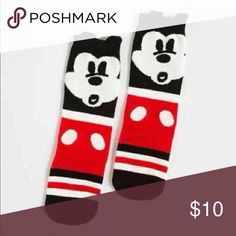 New Mickey socks For ages 3-6 years ..adorable Animal  knee high socks! NIP   Tags : Halloween , little mermaid , Disney , Disneyland , Mickey Mouse, boots, bow , holiday , Christmas , New Years, thanksgiving, lf, lace up, leggings Accessories Socks & Tights