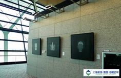 Pudong International Airport - Shanghai China. Stainless Steel Picture hanging system