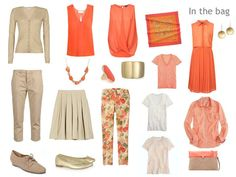 Packing for Paris: orange and beige   The Vivienne Files