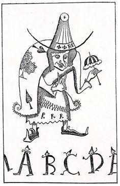 """Takeo Takei, ilustración de """"Ole Cierraojos"""", 1928. http://www.yekibud.es/2013/11/27/los-cuentos-de-hans-christian-andersen/"""