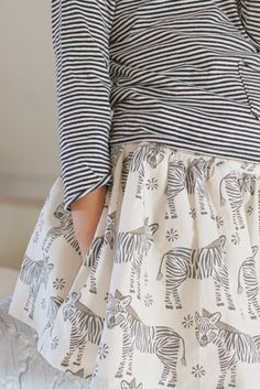 Van Jansen: Geschikt voor stoere meiden - Zebra fabric by Andrea Lauren
