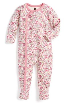 Tea Collection 'Kleiner Vogel' Cotton One-Piece (Baby Girls) available at #Nordstrom