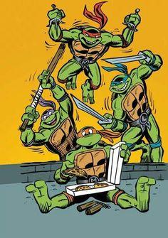 T.G.I.F. Woooooooo, it's the weekend!!  That means it's pizza time dudes !!  #TMNTMovie  #TGIF #TMNT
