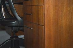 Mid Century Refurbished Desk w/chair solid wood —