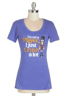 Nuts Crackin'? Tee. Let the world know your charming sense of humor in this quirky graphic tee. #blue #modcloth