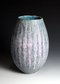 Ceramics by Peter Beard at Studiopottery.co.uk - 2011. Pink vessel, 31cm. high