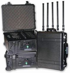 The TSJ military convoy jammer is capable of protection for military convoys and VIP protection. It is capable of blocking cellular signals at up to 150 meters to prevent remote IED and bomb detonation. Casino Machines, Counter Surveillance, Small Drones, Security Systems, Gadget, Remote, Military, Shtf, Edc