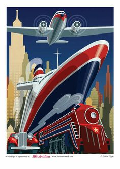 Retro and vintage illustrations and posters - art deco posters travel Old Posters, Retro Poster, Art Deco Posters, Vintage Films, Vintage Travel Posters, Illustrations And Posters, Retro Vintage, Vintage Illustrations, Hanging Posters