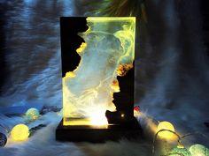Epoxy Wood Table, Epoxy Resin Wood, Resin Table, Resin Art, Light Art, Lamp Light, Diy Resin Lamp, Handmade Lamps, Wood Lamps