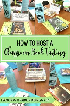 A book tasting is a great way to engage students in their reading and encourage learners to experience novels/books in a new genre. Check out how to easily host this event in your fourth or fifth grade language arts classroom. Teaching 5th Grade, 6th Grade Ela, 5th Grade Classroom, Third Grade Reading, Art Classroom, Classroom Ideas, Fourth Grade, 4th Grade Books, Ninth Grade