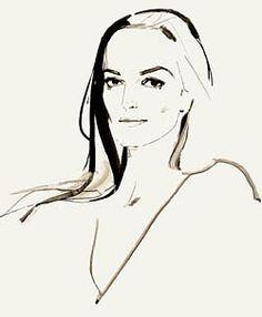 David Downton, fashion illustration, fashion, art, illustration, drawing, painting