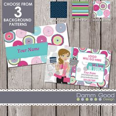 BUSINESS CARD Thirty-One inspired business card by DammGoodDesign