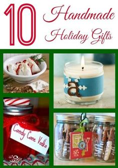 Love this! 10 different gifts you can make for Christmas, and they're all easy to make at the last minute! http://thestir.cafemom.com/home_garden/129957/10_easy_lastminute_homemade_christmas?utm_medium=sm&utm_source=pinterest&utm_content=thestir