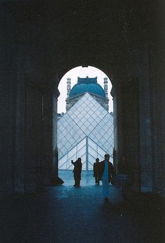 Musee de Louvre - by Khonsus I love this.... It reminds me of the picture I have of my son and husband walking through that very same place!