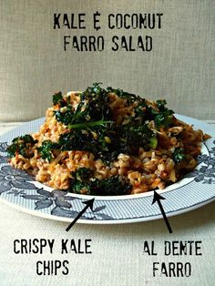 Fitness Girl Kitchen Stories: THE ASIAN FLAIR OF KALE AND COCONUT FARRO SALAD