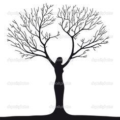 female silhouette tree of life | Woman tree | Stock Vector © robodread #12805666