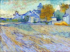 bofransson:  Vincent Van Gogh View of the church of Saint-Paul de Mausole 1889