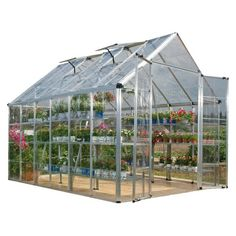 Start your own year-round garden with this professional greenhouse from Snap & Grow. Featuring a frame crafted from durable, rust-resistant aluminum, this greenhouse is sure to last. A transparent polycarbonate siding is used to ensure that the weather and insects stay outside, while the sunlight is allowed to pass through, so you don't need to worry about inclement weather ruining your garden.