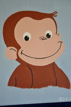 Curious George artwork for a boy's room Curious George Bedroom, Curious George Birthday, Playroom Art, Kids Room Art, Baby Boy Rooms, Baby Boys, Wrestling Birthday, Murals For Kids, 3rd Baby