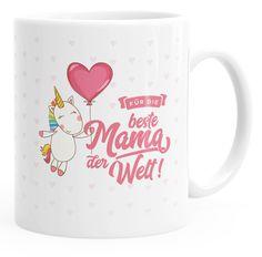 Kaffee-Tasse Einhorn Muttertag Beste Mama der Welt Unicorn Mother`s Day Geschenk-Tasse einfarbig MoonWorks®