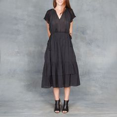Ulla Johnson Pauline Dress in Black – Tamarind