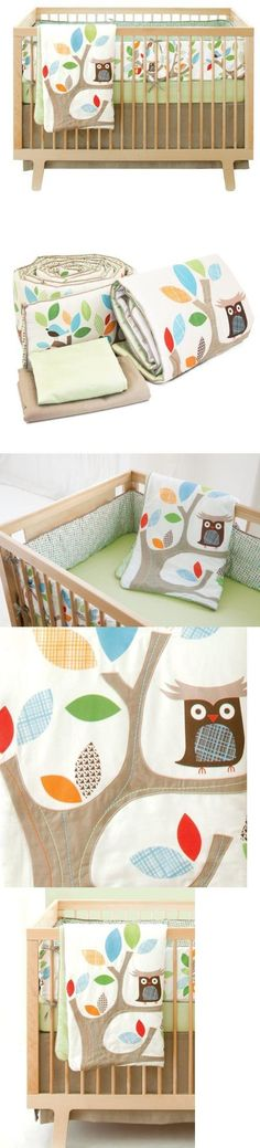 Skip Hop 4 Piece Crib Bedding Set, Treetop Friends New Born, Baby, Child, Kid, Infant, Bring a touch of nature into the nursery. Soft and bold unisex colors, friendly forest animals and cotton linen details add a touch of whimsy to baby's room. Set includes a comforter with embroidery a..., #Baby, #Accessories