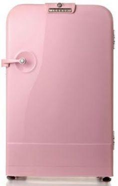 Geladeira rosa