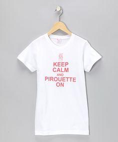 White 'Pirouette On' Tee - Infant Toddler Girls & Women