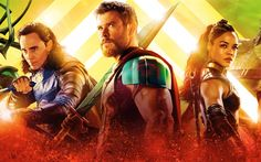 Download wallpapers Thor Ragnarok, 2017, Thor 3, Chris Hemsworth, Cate Blanchett, Idris Elba