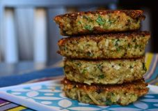 These little patties are packed with basil, fun to make, and make the perfect portable meal when paired with salad or made into a sandwich (for breakfast, too!).  BASIL QUINOA CAKES