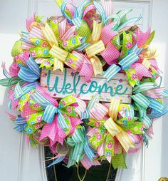 Hey, I found this really awesome Etsy listing at https://www.etsy.com/listing/596624882/welcome-wreath-summer-wreath-spring